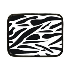 Zebra Stripes Skin Pattern Black And White Netbook Case (small)  by CircusValleyMall