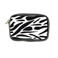 Zebra Stripes Skin Pattern Black And White Coin Purse by CircusValleyMall