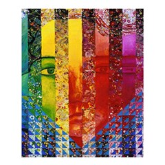 Conundrum I, Abstract Rainbow Woman Goddess  Shower Curtain 60  X 72  (medium)  by DianeClancy