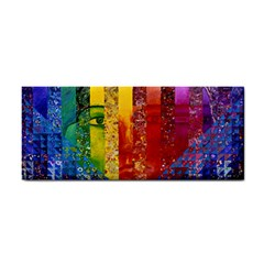 Conundrum I, Abstract Rainbow Woman Goddess  Hand Towel by DianeClancy