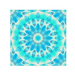 Blue Ice Goddess, Abstract Crystals Of Love Small Satin Scarf (square)