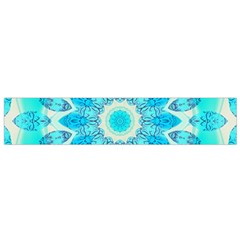 Blue Ice Goddess, Abstract Crystals Of Love Flano Scarf (small)