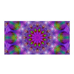 Rainbow At Dusk, Abstract Star Of Light Satin Wrap by DianeClancy