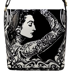 Tattooed Gypsie Flap Closure Messenger Bag (small)