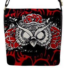 Dark Owl Flap Closure Messenger Bag (small) by DryInk