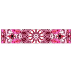 Twirling Pink, Abstract Candy Lace Jewels Mandala  Flano Scarf (small)