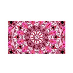 Twirling Pink, Abstract Candy Lace Jewels Mandala  Satin Wrap