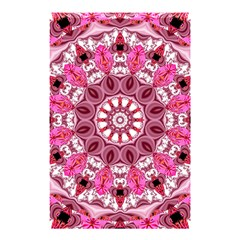 Twirling Pink, Abstract Candy Lace Jewels Mandala  Shower Curtain 48  X 72  (small)