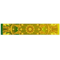 Yellow Green Abstract Wheel Of Fire Flano Scarf (large)