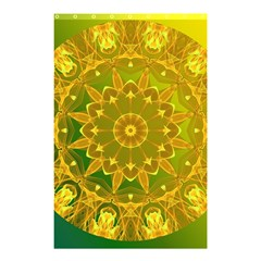 Yellow Green Abstract Wheel Of Fire Shower Curtain 48  X 72  (small)  by DianeClancy