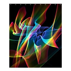 Aurora Ribbons, Abstract Rainbow Veils  Shower Curtain 60  X 72  (medium)  by DianeClancy