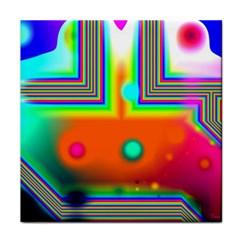Crossroads Of Awakening, Abstract Rainbow Doorway  Face Towel by DianeClancy