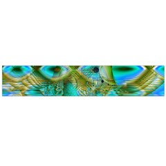 Crystal Gold Peacock, Abstract Mystical Lake Flano Scarf (large) by DianeClancy