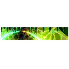 Dawn Of Time, Abstract Lime & Gold Emerge Flano Scarf (large) by DianeClancy
