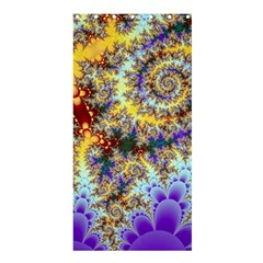 Desert Winds, Abstract Gold Purple Cactus  Shower Curtain 36  X 72  (stall)  by DianeClancy