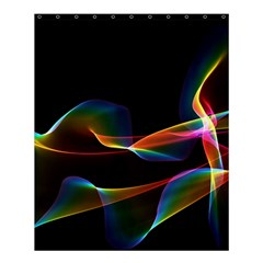 Fluted Cosmic Rafluted Cosmic Rainbow, Abstract Winds Shower Curtain 60  X 72  (medium)  by DianeClancy