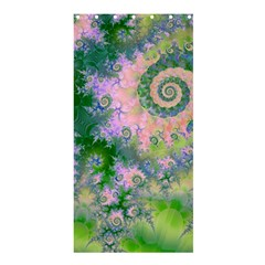 Rose Apple Green Dreams, Abstract Water Garden Shower Curtain 36  X 72  (stall)  by DianeClancy