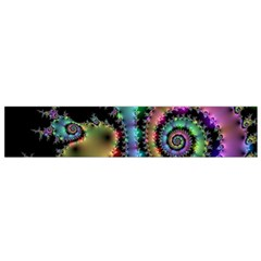 Satin Rainbow, Spiral Curves Through The Cosmos Flano Scarf (small) by DianeClancy