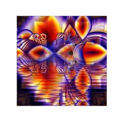 Winter Crystal Palace, Abstract Cosmic Dream (lake 12 15 13) 9900x7400 Smaller Small Satin Scarf (square) by DianeClancy