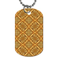 Luxury Check Ornate Pattern Dog Tag (one Side) by dflcprints