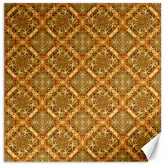 Luxury Check Ornate Pattern Canvas 12  X 12   by dflcprints