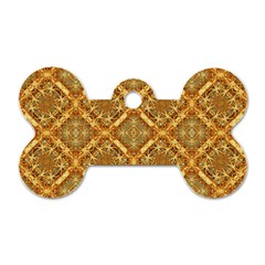 Luxury Check Ornate Pattern Dog Tag Bone (one Side) by dflcprints