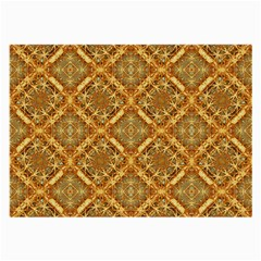 Luxury Check Ornate Pattern Large Glasses Cloth by dflcprints