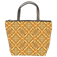 Luxury Check Ornate Pattern Bucket Bags by dflcprints