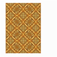 Luxury Check Ornate Pattern Large Garden Flag (two Sides) by dflcprints