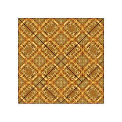 Luxury Check Ornate Pattern Acrylic Tangram Puzzle (4  X 4 ) by dflcprints