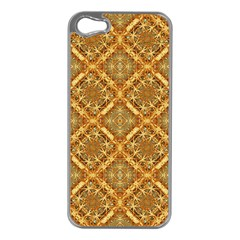 Luxury Check Ornate Pattern Apple Iphone 5 Case (silver) by dflcprints