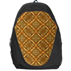 Luxury Check Ornate Pattern Backpack Bag by dflcprints