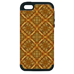 Luxury Check Ornate Pattern Apple Iphone 5 Hardshell Case (pc+silicone) by dflcprints