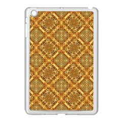 Luxury Check Ornate Pattern Apple Ipad Mini Case (white) by dflcprints