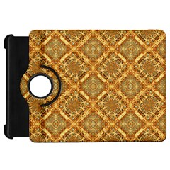 Luxury Check Ornate Pattern Kindle Fire Hd Flip 360 Case by dflcprints
