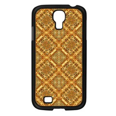 Luxury Check Ornate Pattern Samsung Galaxy S4 I9500/ I9505 Case (black) by dflcprints