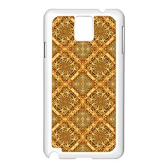 Luxury Check Ornate Pattern Samsung Galaxy Note 3 N9005 Case (white) by dflcprints