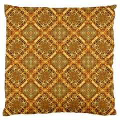 Luxury Check Ornate Pattern Standard Flano Cushion Case (Two Sides) by dflcprints