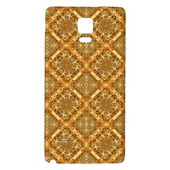 Luxury Check Ornate Pattern Galaxy Note 4 Back Case by dflcprints