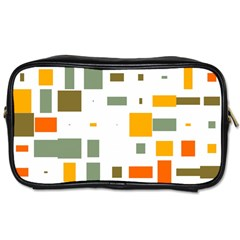Rectangles And Squares In Retro Colors  toiletries Bag (one Side) by LalyLauraFLM