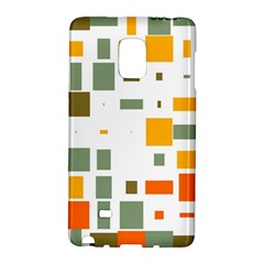 Rectangles And Squares In Retro Colors  samsung Galaxy Note Edge Hardshell Case by LalyLauraFLM