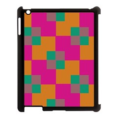 Squares    			apple Ipad 3/4 Case (black) by LalyLauraFLM