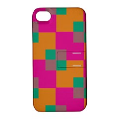 Squares    			apple Iphone 4/4s Hardshell Case With Stand by LalyLauraFLM