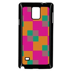Squares    samsung Galaxy Note 4 Case (black) by LalyLauraFLM