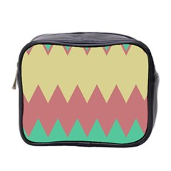 Retro Chevrons     Mini Toiletries Bag (two Sides) by LalyLauraFLM