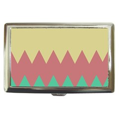 Retro Chevrons     			cigarette Money Case by LalyLauraFLM