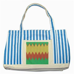 Retro Chevrons     			striped Blue Tote Bag by LalyLauraFLM