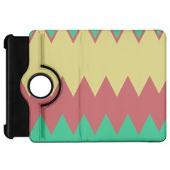 Retro Chevrons     			kindle Fire Hd Flip 360 Case by LalyLauraFLM