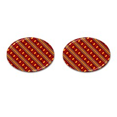 Distorted Stripes And Rectangles Pattern      			cufflinks (oval) by LalyLauraFLM