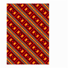 Distorted Stripes And Rectangles Pattern      Small Garden Flag by LalyLauraFLM